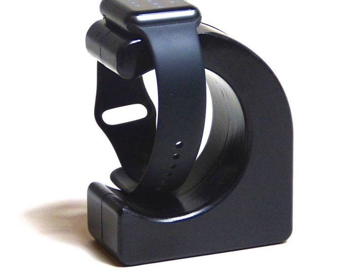 Apple Watch Charging Stand - The WAVE in Pitch Black - Hides the cable - FREE USA Shipping!