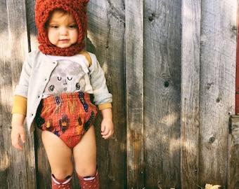 Photo Prop Hat for Baby / Baby Hats / Baby Photoshoot Costume / Baby Gift / Winter Baby / Fox Hood / Fox Costume / Baby Costume / Gift ideas