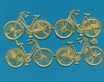 Bicycles DRESDENS - Dresdens - Gold Foil Bicycles - Paper Bicycles - Die Cut Bicycles - Bicycles - Paper Die Cut Bike - Paper Bikes