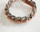 Sliver Bracelet bracelet, friendship bracelet, chunky silver chain bracelet