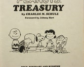 Peanuts Treasury Book  1968 First Edition by Charles M. Schulz Snoopy Comic
