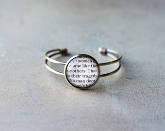 Oscar Wilde, The Importance of Being Earnest, All women become like their mothers, mother's day, mother's gift, literary bracelet, book cuff