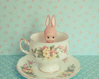 Tea with bunny print