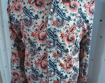 Men's custom paisley shirt - LARGE
