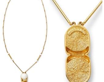 SUPER S.A.L.E was 425 now 225 mod vintage 60s/70s sculptural PIERRE CARDIN signed gold white lucite bead chain necklace