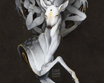 Coey: Father Deer (Print)