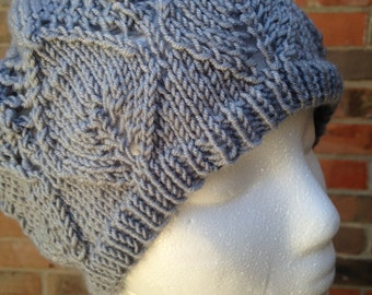 Mary Margaret Blanchard Leaf-and-Diamond Grey Lace Hat