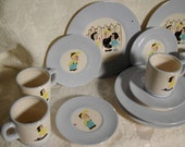 Complete Little Lulu Tea Set 1950s Vintage Unusual Playset