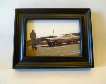 Found Photos - Man with a Mustang