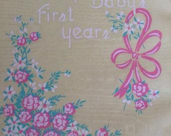 Vintage Baby Memory Record Book Unused Gender Neutral