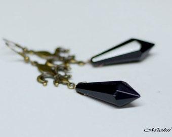 Sailor Moon Black Lady Crystal Dark Moon Kingdom Earrings