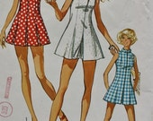 1970s Tennis Dress and Shorts  Vintage Sewing Pattern Simplicity 9406