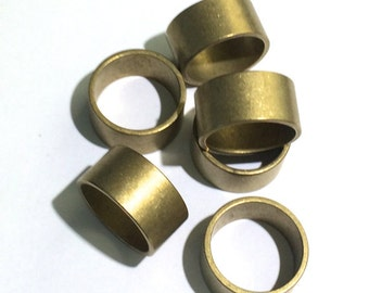 3 Brass Ring, Wide Brass Ring, 9.5mm