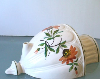 Vintage Italian Pottery Wall Sconce Made in Italy