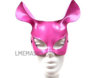 Mouse Leather Mask Bubblegum Pink Sexy Masquerade Erotic Fetish Halloween Costume Carnival Lady Gaga Party Ball Eyewear Mardi Gras