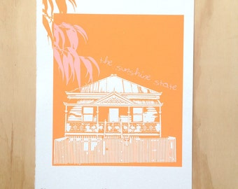 Sunshine. | limited edition screen printed Australian artwork on paper