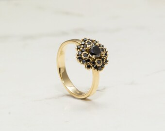 unique engagement ring, Black diamond engagement ring,  Black diamonds ring, Diamond ring, Unique diamond ring, Diamond engagment ring