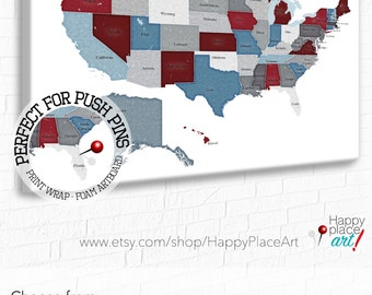 View MAP USA STATES By HappyPlaceArt On Etsy - Us map with staes marked