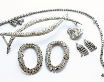 Vintage Destash of Art Deco Jewelry Findings, Assemblages For Art Projects, Circa 1920's-40's