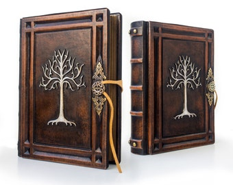 Tree Of Gondor - Large Leather Journal - 7.5 x 10 inches - 560 pages - unique journal, special gift, sketchbook, LOTR