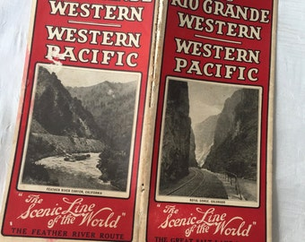 Western Pacific Train Time Table 1926 - Denver Rio Grande Western - Railway System - Timetable