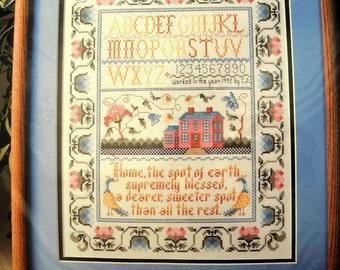 Vintage Bucilla Counted Cross Stitch Sampler Kit NIP No Place Like Home 40671