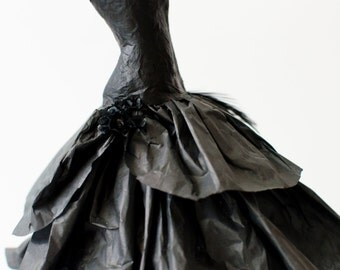 Paper Dress - Paper Sculpture - Miniature Paper Dress