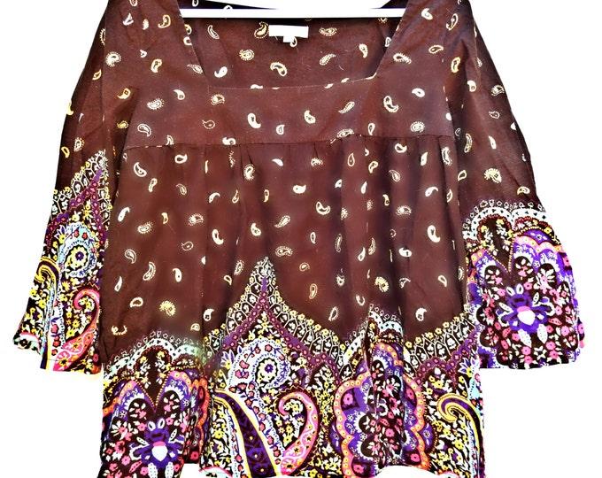 Bohemian hippie chic fashion shirt for women. Perfect for Coachella festival!