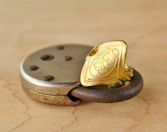 Ring made from a rare antique key! - Size 7.5 - Russell & Erwin Mfg Co - Repurposed - Upcycled - Powder Coated - Victorian - Steampunk