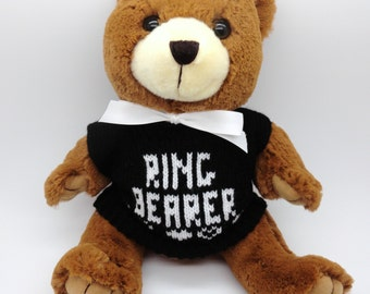 "10"" Brown Ring Bearer Teddy Bear"