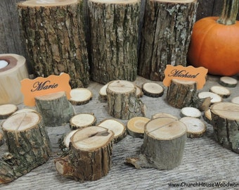 100 rustic place card holders tree card holders place for Rustic home decor suppliers