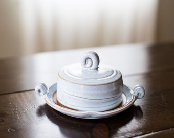 Lidded Butter Dish (Frost Blue Glaze)