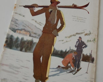 Vintage Fashion Magazine French 1930's Modes et Travaux no. 263 Sewing and Knitting