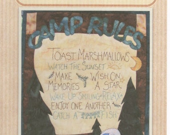 Camp Rules Wall Hanging Pattern by Quilt Doodle Designs (QD137)