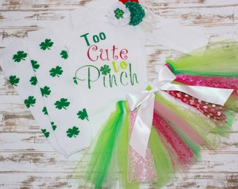 Too Cute To Pinch Saint Patrick's Day Outfit