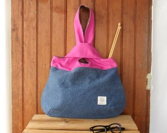 Knot bag - hobo style project bag