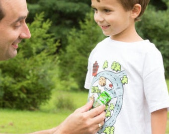 Boys Car Race Track Shirt sensory t-Shirt Autism Awareness Gift