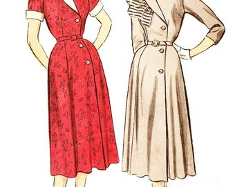 Advance 6270 Misses' Vintage 1950s Coatdress Sewing Pattern