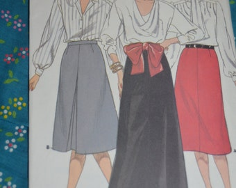 Butterick 3596 Misses Skirt Sewing Pattern - UNCUT - Sizes 20 22 24