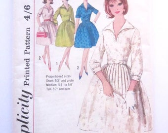 Vintage 1960′s Sewing Pattern - Simplicity 4980 - Dress Pattern - Size 16 – 36″ Bust - 1950s Dress - 1960s Dress - Mad Men Dress