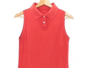 FILA vintage tennis sport woman red dress 100% cotton