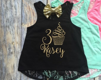 Girls Birthday Shirt, Girls Birthday Outfit, First birthday shirt, Monogrammed girls shirt, Birthday Princess, Personalized girls shirt,