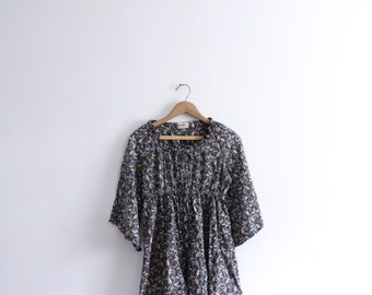 Vintage 70s Indian Paisley Tunic Top