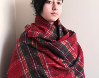 Soft plaid blanket scarf your best companion in cold winter and spring days. Anice gift someone you love, gift for her, for girlfriend.