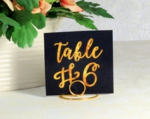 Gold Wire table number holders - Bridal Shower Pen, Shabby Chic Pen - Bride and Groom - Rustic Country Chic Wedding