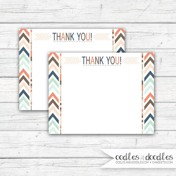 Tribal Thank You Note Boho Printable Tribal Cards Tribal Party