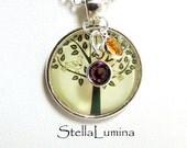 Tree-of-Life Silver Necklace Swarovski Birthstone(s)
