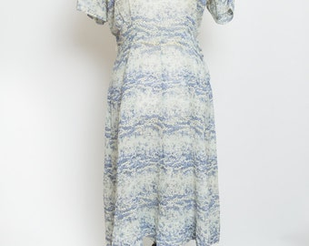 Sheer blue and white vintage dress