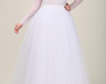 Wedding gown, Handmade maxi skirt, Handmade tutu skirt, High quality skirt, Floor length petticoat, Floor length skirt