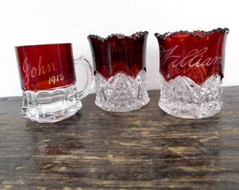 3 Ruby Flash Souvenir Glasses